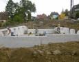 Baufortschritt Kellermauerwerk Häuser 5+6